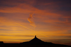 Sunset, Utah. Beautiful sunset near Canyonlands in Utah Stock Photography