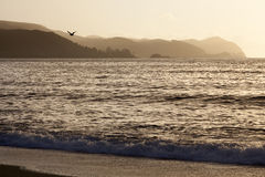 Sunset in Valdivia Stock Photo