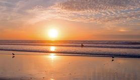 Sunset at Vale Figueiras beach  Portugal Royalty Free Stock Photography