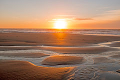 Sunset at Vale Figueiras beach Portugal Stock Photo