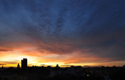 Sunset in Valencia Royalty Free Stock Photography