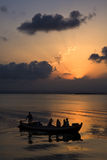 sunset Valencia jezioro zdjęcia stock
