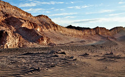 Sunset in the Valle de la Luna Royalty Free Stock Photo