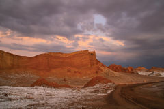 Sunset at Valle de la Luna Royalty Free Stock Photography