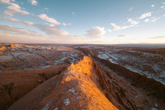 Sunset in Valle de la Luna - Chile Royalty Free Stock Photography