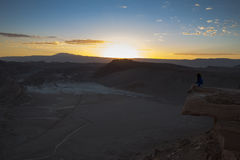 Sunset in Valle de la Luna. & x28;Moon Valley& x29;, Chile royalty free stock photography