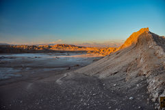 Sunset in Valle de la Luna near San Pedro de Atacama, Chile Royalty Free Stock Photo