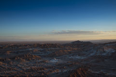 Sunset in Valle de la Luna Royalty Free Stock Images