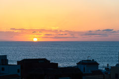 Sunset in the Valle Gran Rey on La Gomera Stock Photos