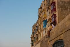 Sunset in Valletta, Malta Royalty Free Stock Image