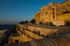 Sunset in Valletta, Malta Stock Photos