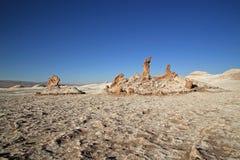 Sunset at Valley of the Moon, San Pedro de Atacama, Chile royalty free stock photography