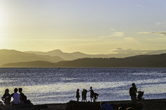 Sunset on Vancouver beach. In a sunny summer day royalty free stock photos