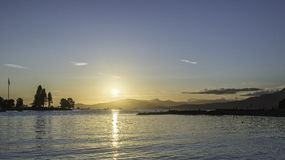 Sunset on Vancouver beach. In a sunny summer day stock photo