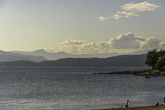Sunset on Vancouver beach. In a sunny summer day stock photography
