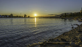 Sunset on Vancouver beach Royalty Free Stock Images