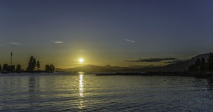 Sunset on Vancouver beach Royalty Free Stock Photography