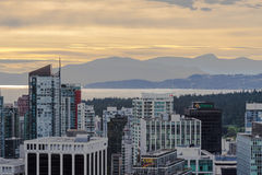Sunset in Vancouver Royalty Free Stock Photos