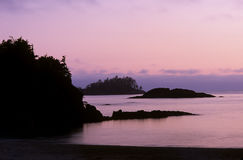 Sunset on Vancouver island Royalty Free Stock Photography