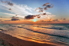 Sunset in Varadero, Cuba royalty free stock images