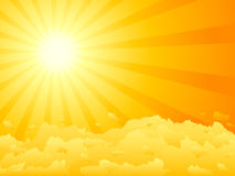 Sunset vector stock illustration