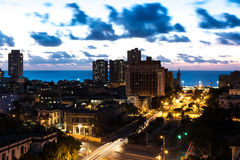 Sunset in Vedado neighborhood in Havana, Cuba Stock Photos