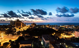 Sunset in Vedado neighborhood in Havana, Cuba Stock Photo