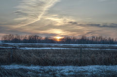 Sunset in Vegreville 2 Royalty Free Stock Images