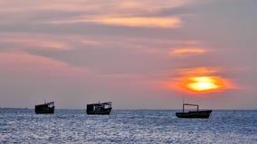 Sunset Vela de Coro royalty free stock image