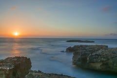Sunset on velvet sea Royalty Free Stock Photos