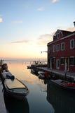 Venice, lagoon. Sunset in the venetian lagoon, Burano, Italy Stock Image