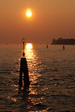 Sunset Venice Royalty Free Stock Photography