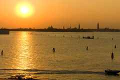 Sunset in Venice Stock Image