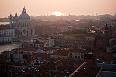 Sunset in Venice Stock Photos