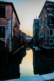 Sunset in Venice Royalty Free Stock Photography