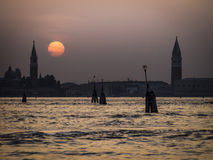 Sunset Venice Italy Royalty Free Stock Photos