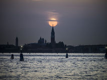 Sunset Venice Italy Royalty Free Stock Images