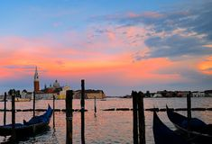 Sunset of Venice Royalty Free Stock Image