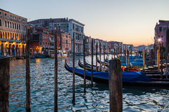 Sunset in Venice royalty free stock image