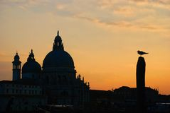 Sunset in Venice Stock Image
