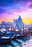 Sunset in Venice. View of Grand Canal in Venice, Italy Royalty Free Stock Photos