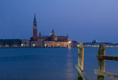 Sunset in Venice with view on S.Georgio Stock Photos