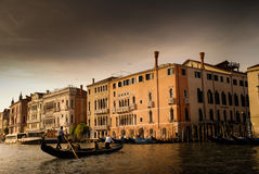 Sunset in Venich. Sunset at grand canal, Venice, Italy Royalty Free Stock Images