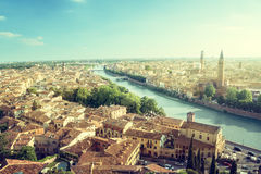 Sunset in Verona, Italy Stock Photo