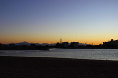 Sunset in the vicinity of Hurghada Stock Photo