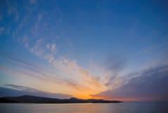 Sunset on Victoria stock photo