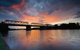 Sunset Victoria Bridge Penrith Australia Royalty Free Stock Image