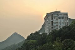 Sunset at Victoria Peak Stock Photos