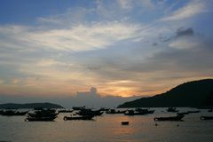 Sunset in Vietnam. Stock Image