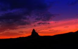 Sunset view. Sunset at Monument Valley - USA Royalty Free Stock Images
